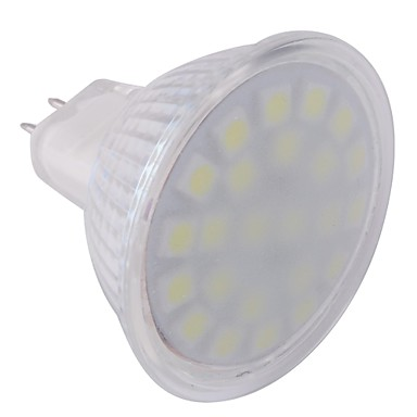 ywxlight® gu5.3 (mr16) οδήγησε προβολέα mr16 24 leds smd 5050 κρύο λευκό 360lm 6000-6500k ac 220-240v
