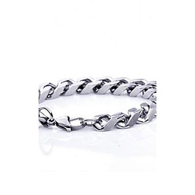 Armbanden met ketting en sluiting Kostuum juwelen Titanium Staal Sieraden Voor Feest Dagelijks Causaal