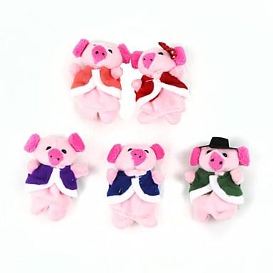 süße Puppe Geschichte Finger bunte Schwein Spielzeug (5 Stück)