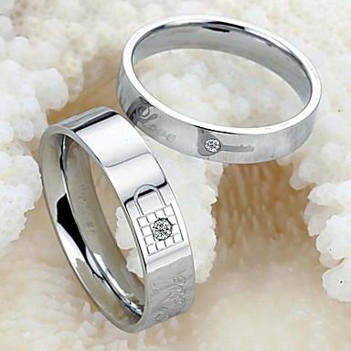 Γυναικεία Δαχτυλίδια Ζευγαριού Μοντέρνα Τιτάνιο Ατσάλι Κοστούμια Κοσμήματα Γάμου Πάρτι Καθημερινά Causal Αθλητικά