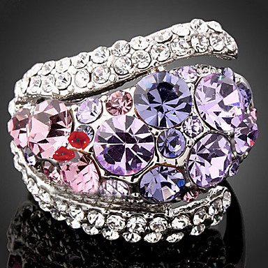Γυναικεία Δακτύλιος Δήλωσης Πολυτέλεια Μοντέρνα Cubic Zirconia Προσομειωμένο διαμάντι Κράμα Κοστούμια Κοσμήματα Πάρτι