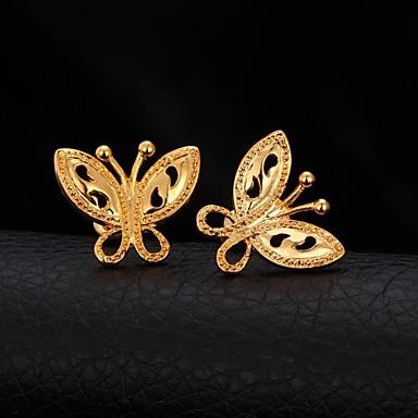 Σκουλαρίκι Κουμπωτά Σκουλαρίκια Κοσμήματα Γάμου / Πάρτι / Καθημερινά / Causal / Αθλητικά Επιμεταλλωμένο με Πλατίνα / ΕπιχρυσωμένοΧρυσαφί