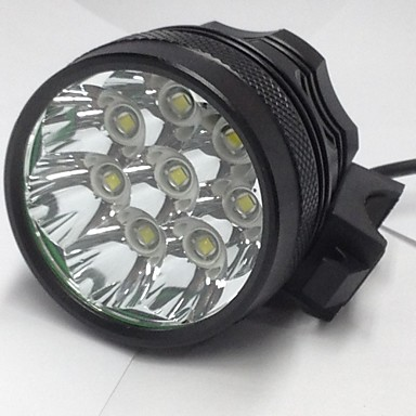 3 Stirnlampen Radlichter LED Cree XM-L U2 8 Sender 8000LM 3 Beleuchtungsmodus Wasserfest, Wiederaufladbar, Nachtsicht Camping / Wandern / Erkundungen, Für den täglichen Einsatz, Radsport
