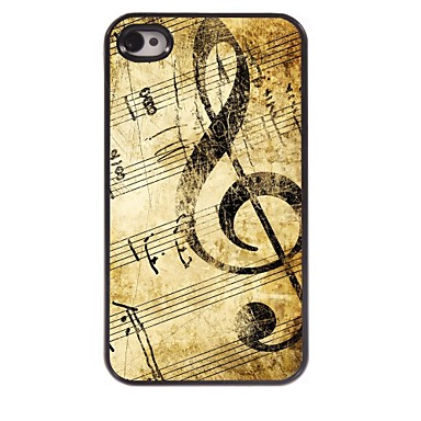 ρετρό μουσική σκαλίσματος αλουμίνιο δύσκολη υπόθεση για το iphone 4 / 4s