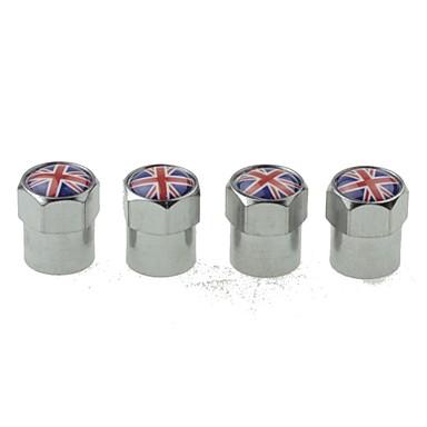 luxe autoband nationale vlag koperen kranen decoratie cap (uk 4 stuks per verpakking)