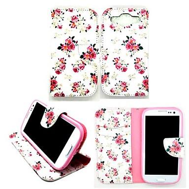 Para Samsung Galaxy Capinhas Porta-Cartão / Com Suporte / Flip / Magnética / Estampada Capinha Corpo Inteiro Capinha Flor Couro PU Samsung