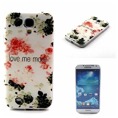 Voor Samsung Galaxy hoesje Patroon hoesje Achterkantje hoesje Bloem TPU Samsung S4