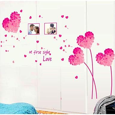 paardebloem liefde patroon muur sticker