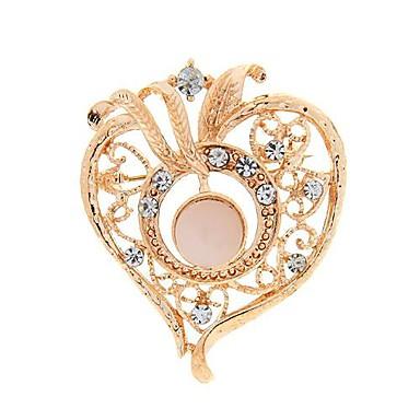 μόδα ρομαντικό σχήμα καρδιάς με στρας καρφίτσες τυχαίο χρώμα