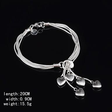 Silber Manschetten-Armbänder - Liebe Breiter Armreif, Einzigartiges Design, Europäisch Armbänder Silber Für Party Geburtstag Verlobung