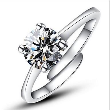 Damskie Symulowane Pierścień Oświadczenia Pierścionek Zaręczynowy Pierścień Zawijania Srebro Standardowe Imitacja Diamentu Miłość Damska