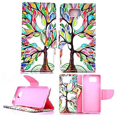 Para Samsung Galaxy Capinhas Carteira / Porta-Cartão / Com Suporte / Flip / Estampada Capinha Corpo Inteiro Capinha Árvore Couro PU