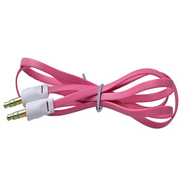 3,5 χιλιοστά αρσενικό σε αρσενικό χρώμα μικρό χυλοπίτες καλώδιο σύνδεσης ήχου επίπεδου τύπου (1μ) (διάφορα χρώματα)