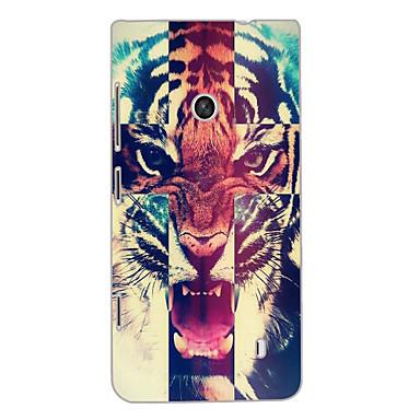 woeste tijger ontwerp hard case voor Nokia N520 gevallen / covers voor Nokia