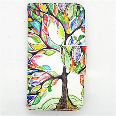 tok Για Samsung Galaxy Samsung Galaxy Θήκη Θήκη καρτών με βάση στήριξης Ανοιγόμενη Με σχέδια Πλήρης Θήκη Δέντρο PU δέρμα για S4 Mini