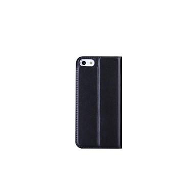 Capinha Para Apple iPhone 6 Plus / iPhone 6 Carteira / Porta-Cartão / Com Suporte Capa Proteção Completa Sólido Rígida couro legítimo para iPhone 7 Plus / iPhone 7 / iPhone 6s Plus