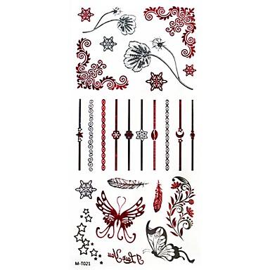 Tatoeagestickers Bloemen Series Patroon Dames Girl Volwassene Tiener Tijdelijke tatoeage Tijdelijke tatoeages