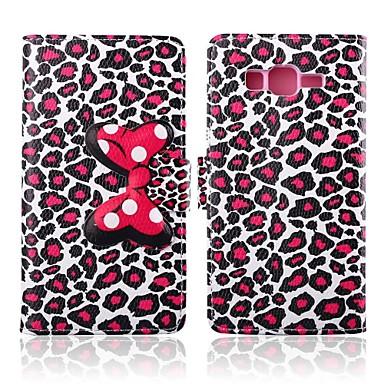 aantrekkelijk luipaard print patroon pu leer full body gevallen met standaard voor Samsung Galaxy Grand prime g530h