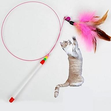 Brinquedo de Provocação Brinquedo com Penas Bastão Têxtil Para Gato Brinquedo Para Gato