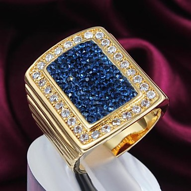 Feminino Maxi anel bijuterias Chapeado Dourado Jóias Para Diário Casual