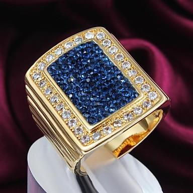 Dames Statement Ring Blauw Verguld Dagelijks Causaal Kostuum juwelen