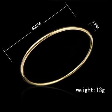 Dames Enkelring  Sieraden Cuff armband Uniek ontwerp Modieus 18 Karaats Verguld Sieraden Verjaardag Verloving
