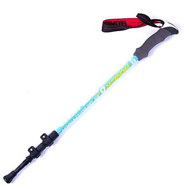 3 Bengalas de Trekking 135 centímetros (53 polegadas) Húmido Anti-Derrapagem Comprimento Ajustável Anti-Choque Durável Tungstênio Fibra