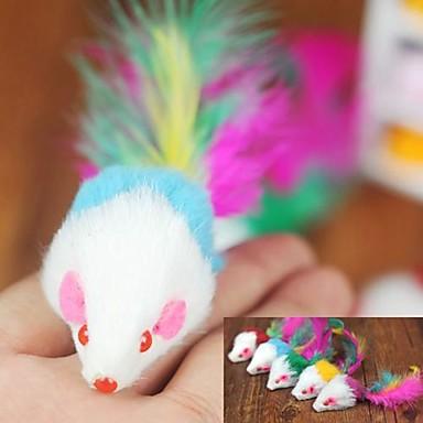 Brinquedo Para Gato Brinquedos para Animais Brinquedo de Provocação Brinquedo com Penas camundongo Para animais de estimação
