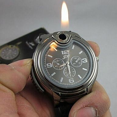 Heren Polshorloge Unieke creatieve horloge Kwarts lichter Silicone Band Zwart Wit Zwart