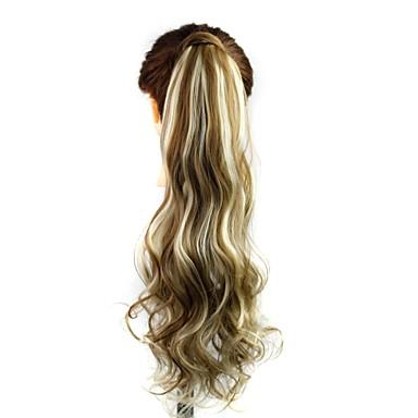 Κυματιστό Αλογορουρές Συνθετικός Κομμάτι μαλλιών Hair Extension Χρυσαφί Ξανθό Καθημερινά
