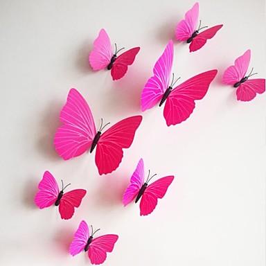 Moda Şekiller 3D Duvar Etiketler Uçak Duvar Çıkartmaları Dekoratif Duvar Çıkartmaları, PVC Ev dekorasyonu Duvar Çıkartması Duvar