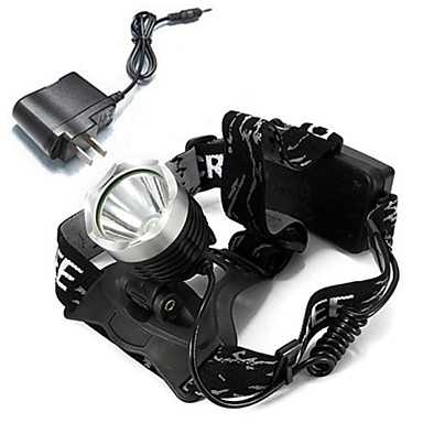 baratos Lanternas de Cabeça-Lanternas de Cabeça Farol para Bicicleta LED Cree® XM-L T6 Emissores 1600 lm Com Carregador Recarregável Campismo / Escursão / Espeleologismo Ciclismo Multifunções