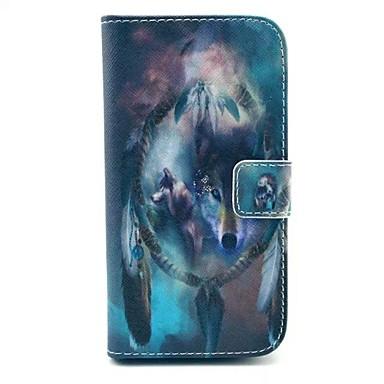 Para Samsung Galaxy Capinhas Porta-Cartão / Com Suporte / Flip / Estampada Capinha Corpo Inteiro Capinha Animal Couro PU Samsung S3
