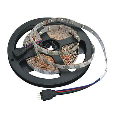 5m Esnek LED Şerit Işıklar 300 LED'ler 3528 SMD RGB 12 V / IP44