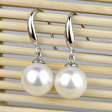 ΣκουλαρίκιΚοσμήματα Ασήμι Στερλίνας Λευκό Γάμου / Πάρτι / Καθημερινά