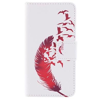 Para Samsung Galaxy Capinhas Porta-Cartão / Com Suporte / Flip / Estampada / Magnética Capinha Corpo Inteiro Capinha Pena Couro PU Samsung