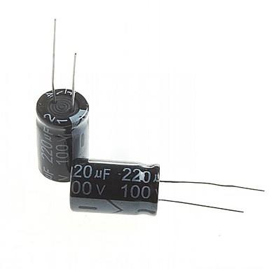 capacitor eletrolítico 220uf 100v (10pçs)