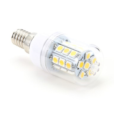 3W 200 lm E14 LED Corn Lights T 27 leds SMD 5050 Warm White AC 220-240V