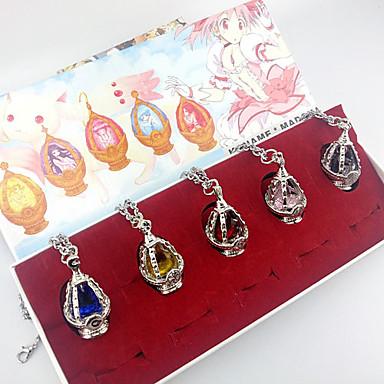 Mücevher Esinlenen Puella Magi Madoka Magica Kyoko Sakura Anime Cosplay Aksesuarları Kolyeler Kırmızı / Sarı / Mavi / Mor / Pembe Alaşım