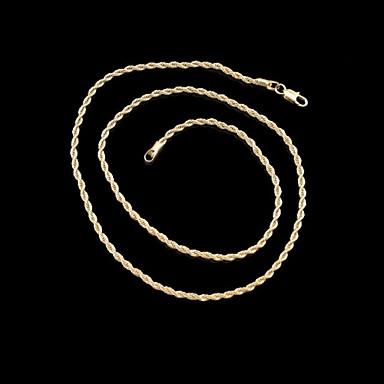 Erkek / Kadın's Zincir Kolyeler - Altın Kaplama Kolyeler Uyumluluk Düğün, Parti, Günlük / Spor