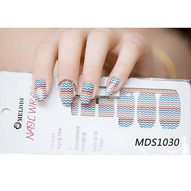 14pcs cartoon warme kleur nail art stickers mds1030