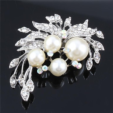 pérolas mf mulheres broche de casamento de cristal para birde