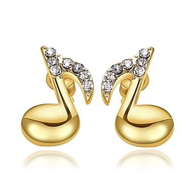 Γυναικεία Κουμπωτά Σκουλαρίκια απομίμηση διαμαντιών Βασικό Επιχρυσωμένο Κοσμήματα Κοσμήματα Για Γάμου Πάρτι Καθημερινά Causal