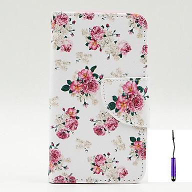 tok Για Nokia Θήκη Nokia Θήκη καρτών με βάση στήριξης Ανοιγόμενη Με σχέδια Πλήρης κάλυψη Λουλούδι Σκληρή PU δέρμα για