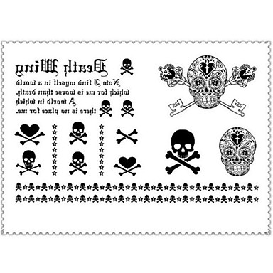 1 Tatoeagestickers Message Series Non Toxic / Onderrrug / WaterproofDames / Heren / Volwassene Flash Tattoo tijdelijke Tattoos