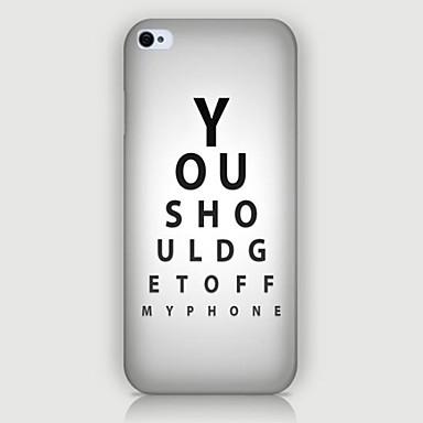 Para Capinha iPhone 5 Case Tampa Estampada Capa Traseira Capinha Palavra / Frase Rígida PC para iPhone SE/5s iPhone 5