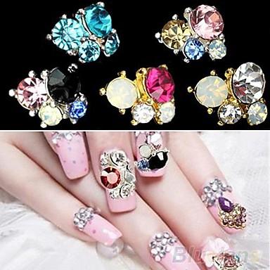 5 Nail Jewelry Glitter & Poudre Klasik Sevimli Düğün Günlük Klasik Sevimli Düğün Yüksek kalite