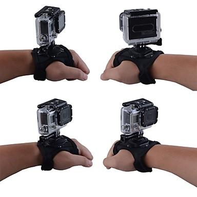 Hand Riemen Bandjes Bevestiging 360° rotatie Voor Actiecamera Allemaal Gopro 5 Gopro 4 Gopro 3 Gopro 3+ Gopro 2 ABS Nylon