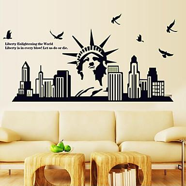 φωτεινή περιβαλλοντικές αφαιρούμενο άγαλμα της ελευθερίας ετικέτες& αυτοκόλλητη ετικέτα