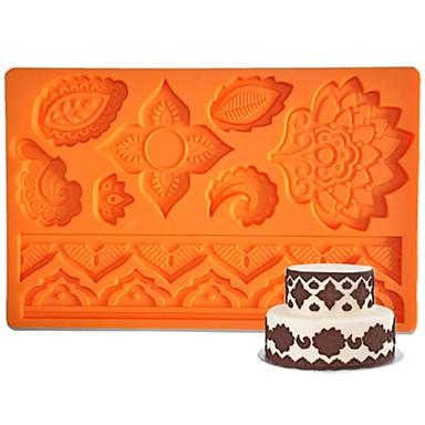 Four C-siliconen mallen bloem fondant en sugarpaste mat, cake levert fondant mat kauwgom plakken mat cake gereedschappen